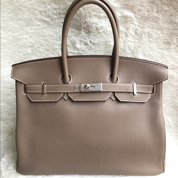 dc25c89d73 Hermes Bags | Authentic Birkin 35 Etoupe Togophw Like New | Poshmark
